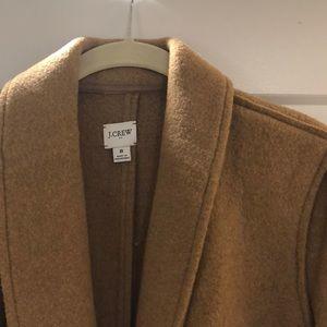 J Crew camel Knee length coat